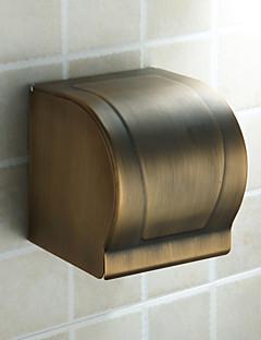 Toalettpappershållare,Antik Antik mässing Väggmonterad