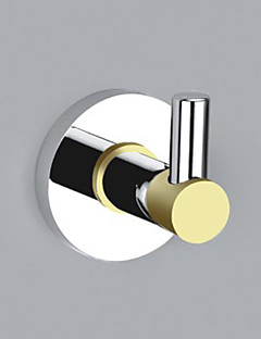 Contemporary Style Chrome Finish Brass Wall Mounted Robe Hooks