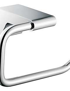 Chrome Finish Contemporary Style Brass Rectangle Shape Towel Rings