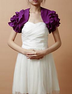belle manches bouffantes courtes en mousseline de soie wrap soirée / mariage / veste de soirée (plus de couleurs) bolero haussement