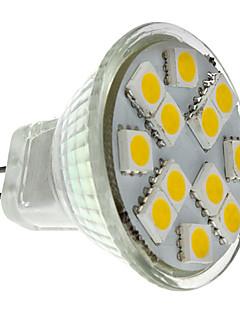 Spot LED Blanc Chaud MR11 GU4(MR11) 1.5W 12 SMD 5050 160 LM DC 12 V