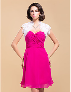 Wedding  Wraps Shrugs Sleeveless Lace As Picture Shown Wedding / Party/Evening Open Front