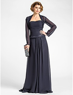 Women's Wrap Shrugs Long Sleeve Chiffon Dark Navy Wedding Party/Evening Wide collar 39cm Draped Open Front