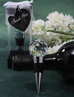 Chrome/Acrylic Bottle Favor Bottle Stoppers Classic Theme Non-personalised Silver