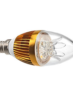 E14 3 W 3 High Power LED 270 LM Warm White C Decorative/Dimmable Candle Bulbs AC 220-240 V
