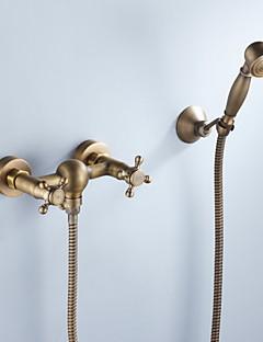banheira torneira acabamento bronze antigo com chuveiro de mão
