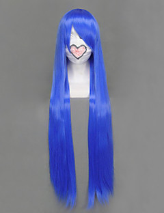Cosplay Wigs LuckyStar Izumi Konata Blue Long Anime Cosplay Wigs 100 CM Heat Resistant Fiber Female