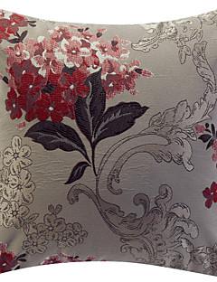 Jacquard fronha decorativa floral tradicional