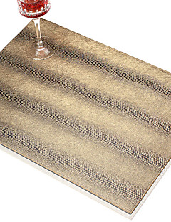 Ensemble de 4 Modern Design PU Placemats