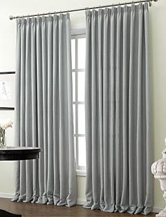 (to paneler) klassisk solid polyester bomuld blanding energibesparende gardin