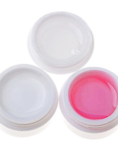 3PCS Multifunctionele UV Gel (14ml, 1 White Gel 1 Roze Gel 1 transparante gel)