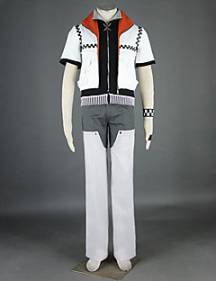 Inspired by Kingdom Hearts Roxas Video Game Cosplay Costumes Cosplay Suits Patchwork White Short Sleeve Coat Pants Belt