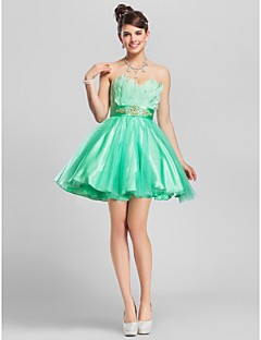 TS Couture® Cocktail Party / Homecoming / Prom / Wedding Party / Sweet 16 Dress - Short Plus Size / Petite A-line / Ball Gown Strapless / Sweetheart