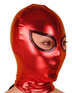 Mask Ninja Zentai Cosplay Costumes Red / Black Solid Mask Shiny Metallic Unisex Halloween / Christmas