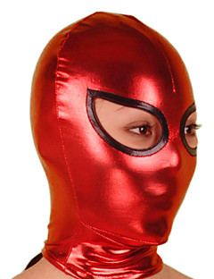 Maska Ninja Zentai Cosplay kostýmy Červená / Černá Jednobarevné Maska Lesklá metalíza Unisex Halloween / Vánoce
