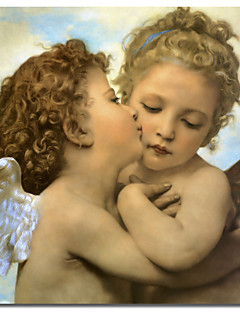 Painettu Canvas Art Vintage Bouguereau, Enkelit ja cupids by Vintage Apple Collection venytetty Frame