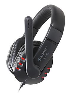 SOMIC EV-55 en auriculares con micrófono, control remoto para PC