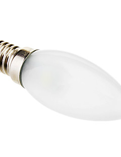 0.5W E14 LED Kerzen-Glühbirnen C35 3 SMD 5050 45 lm Kühles Weiß Dekorativ AC 220-240 V
