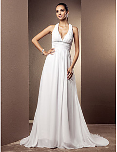 Lanting Bride® Sheath / Column Petite / Plus Sizes Wedding Dress - Classic & Timeless / Glamorous & DramaticVintage Inspired / Spring