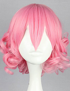 Deep Pink Curly Bob 32cm Sweet Lolita Wig