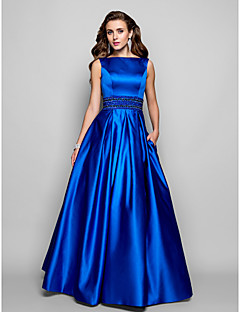 TS Couture® Prom / Formal Evening / Military Ball Dress - Vintage Inspired Plus Size / Petite A-line / Ball Gown Bateau Floor-length Satin