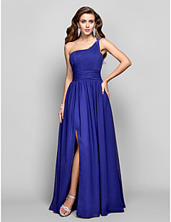TS Couture® Formal Evening / Military Ball Dress - Regency Plus Sizes / Petite Sheath/Column One Shoulder Floor-length Chiffon