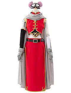 Inspired by Gintama Kagura Anime Cosplay Costumes Cosplay Suits Patchwork Red SleevelessCloak / Vest / Skirt / Shorts / Sleeve / Gloves /