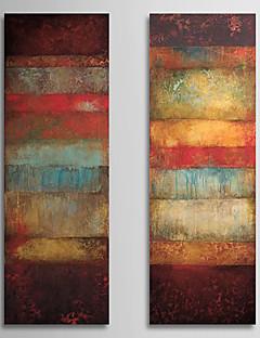 olieverfschilderij abstract met gestrekte kader set van 2 1308-ab0716 met de hand beschilderd doek