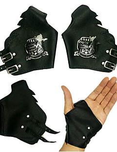 Gloves Festival/Holiday Halloween Costumes Silver / Black Halloween / Carnival Unisex Polyurethane Leather
