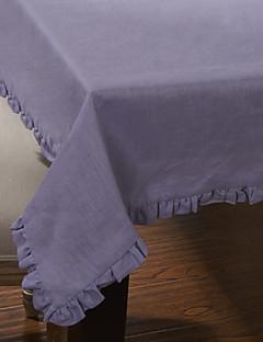 Style de table en tissu de modèle solide pourpre moderne