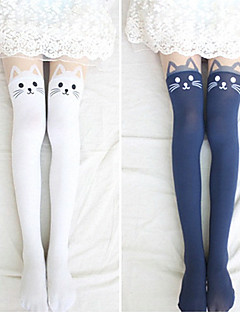 Lovely Kitty Velvet Lolita Velvet Stockings (4 färger)