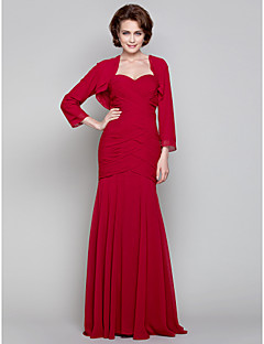 Dress - Ruby Trumpet/Mermaid Sweetheart Floor-length Chiffon