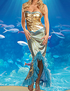 Exotic Dancer Fish Scale Dress Women's Costume