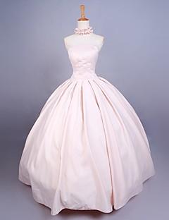 /שמלותחתיכה אחת לוליטה מתוקה נסיכות Cosplay שמלות לוליטה אחיד ללא שרוולים ארוך שמלה ל סאטן
