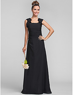 LAN TING BRIDE Floor-length Square Bridesmaid Dress - Elegant Sleeveless Chiffon