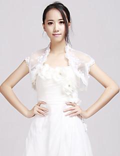elegante blonder bryllup aften jakker med applikasjon (flere farger tilgjengelig) bolero skuldertrekk