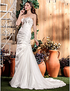 Lan Ting Trumpet/Mermaid Plus Sizes Wedding Dress - Ivory Court Train Sweetheart Taffeta