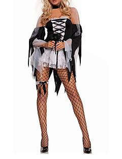 Cosplay Kostýmy / Kostým na Večírek Upír Festival/Svátek Halloweenské kostýmy Černá Patchwork Šaty / Doplňky do vlasů Halloween Dámské