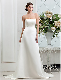 Lanting Bride® A-line Petite / Plus Sizes Wedding Dress - Classic & Timeless / Glamorous & Dramatic Fall 2013 Sweep / Brush Train