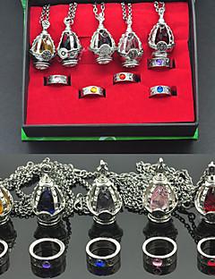 תכשיטים קיבל השראה מ Puella Magi Madoka Magica Kyoko Sakura אנימה אביזרי קוספליי שרשרת אדום / צהוב / כחול / סגולסגסוגת / אבני חן