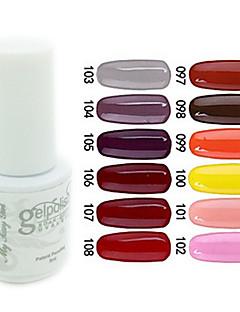 yemannvyou®sequins uv farve gel neglelak no.97-108 (5 ml, assorterede farver)