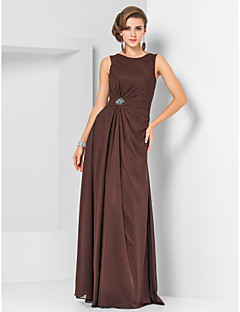 Formal Evening/Military Ball Dress - Chocolate Plus Sizes Sheath/Column Jewel Floor-length Chiffon