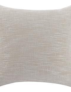 """18 """"Square Casual Solid Color Beige Linne dekorationskudde Cover"""