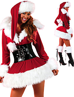 Cosplay Costumes Santa Suits Festival/Holiday Halloween Costumes Red Dress Hat Christmas Female Faux Fur Polyester