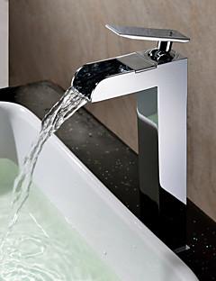 Robinet de salle de bain Sprinkle®  ,  Dessus de Meuble  with  Chrome 1 poignée 1 trou  ,  Fonctionnalité  for Jet pluie / Centerset