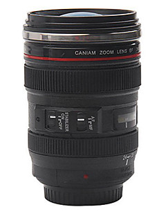 Obiectiv cameră foto de cafea cana cu capac