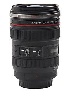 Kamera-Objektiv-Kaffeebecher mit Deckel
