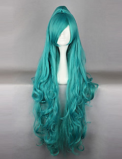 Cosplay Wigs Cosplay Iva Cyan Long Anime Cosplay Wigs 100 CM Heat Resistant Fiber Female