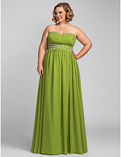 Formal Evening/Prom/Military Ball Dress - Clover Plus Sizes A-line Strapless/Sweetheart Floor-length Chiffon