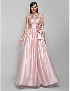 TS Couture® Prom / Formal Evening / Military Ball Dress - Open Back Plus Size / Petite A-line Jewel Floor-length Tulle / Stretch Satin withCrystal